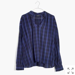 Madewell - Highroad Popover Shirt in Chelton Plaid